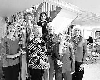 """The Youngstown Area Federation of Women's Clubs is sponsoring its annual Youngstown State University scholarship fundraiser luncheon at 11:30 a.m. Oct. 17 at the Holiday Inn, 7410 South Ave., Boardman. The event will include a style show titled """"The Traveling Suitcase"""" with classic fashions by Talbots and formal wear for young and old by Toula's. Music will be by duet vocalists Jim McClelland and Liz Rubino accompanied by Jack Ciarniello. Tickets are $30 and may be purchased by calling Ford at 330-755-6828. Members of the committee in the back row are Catherine Campana, left, Debra Kosterzic and Aletha Bowden, and in front are Tamara Sigler, Barbara Geller, Barbara Higgins and Suzanne Brown. Committee members not in the photo are Linda Crish, Yvonne Ford and Patty Higgins. PHOTO BY: ROBERT K. YOSAY 