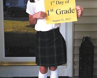 Bree, 6, of Boardman, on the first day of first grade. Sent by her mom, Jen.