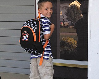 Dominic Pappagallo of Mineral Ridge is all packed and ready to go on his first day of kindergarten.