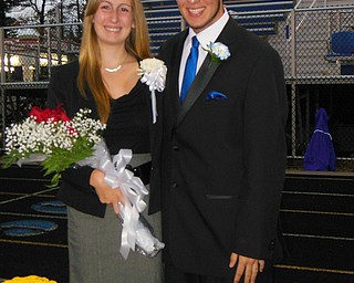 Poland High School King and Queen Brenna Gebhardt and Michael Pompeo