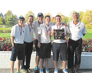 The Warren JFK golf team will compete in the Division III Boys State Championships this weekend. Team members are (from left) Daniel LaPolla, James LaPolla, Stephen Macali, Ryan Fowler, Billy Phillips and Coach Jim St. George.