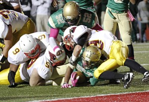 ROBERT K. YOSAY  | THE VINDICATOR..Mooney @  Ursuline  YSU Stadium - Ursuline won 44-24 -... - -30-..