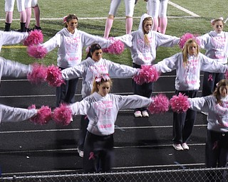 Pink out for cancer awareness - Fitch cheerleaders