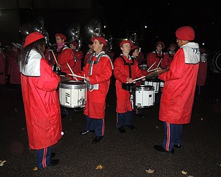 Fitch drumline circle post game