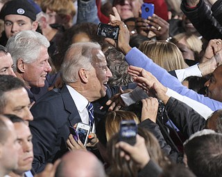 William d Lewis the vindicator   Bill Clinton and Joe Biden work the crowd during rally 102912 at Covelli.