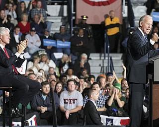 William d Lewis the vindicator   BillClinton and Joe Biden rally 102912 at Covelli.