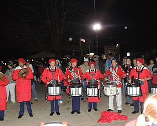 Last back circle post game of the home season.  The band plays at the back circle after every game followed by a drum line circle.  Only then is the game completely wrapped up for the week.