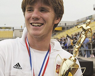 It has been a decade since a Valley soccer team won a state title when Pat Walker, above, and the Cardinal Mooney Cardinals downed Columbus DeSales for the Division II title in November 2002.