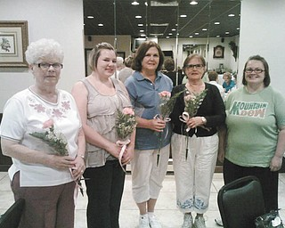 Bree Quesenberry, far right, recently welcomed, from left to right, Margaret Pitts, Samantha Fricker, and Donna and Phyllis Galose as new members of Girard Junior Women. Junior Women is a nonprofit group dedicated to serving the community. They sponsor fundraisers of bazaars and trunk sales. Meetings are at local restaurants. The next meeting is Oct. 11. Dues are $6 per year. New members are welcome and should contact Quesenberry or any member. There also is a message box on Facebook listed as Girard Junior Women.