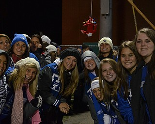 Hubbard Students wait after Saturday's victory over Niles to congratulate the Football team with their win!