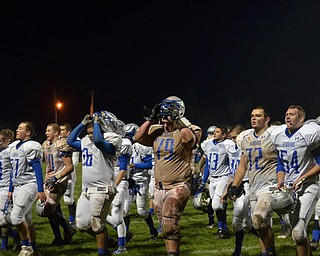 Hubbard's Boys of Fall after their victory Saturday night against Niles!