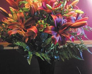 Joyce Howard of Boardman took this picture of a floral bouquet of starfires and other fall flowers that was sent to her by son and his wife, both in the Air Force in Texas, when she had surgery recently.