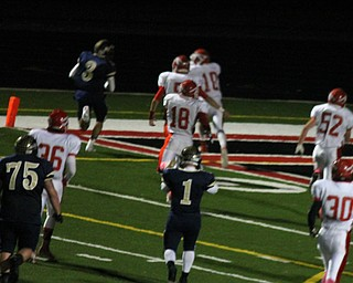 Ryan Mosora Rushes for another touchdown during Friday nights playoff game against Edgewood