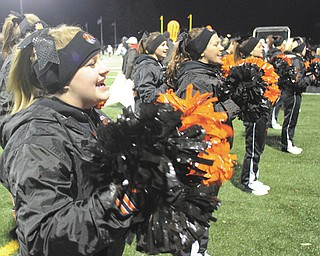 Howland cheerleaders cheered on the Tigers during last week's game.