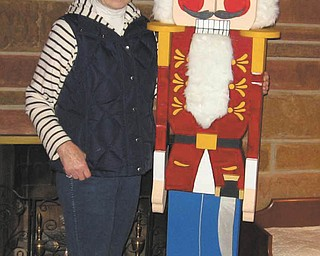 Hubbard Historical Society's McBride House, 27 Hager St., will be open from 2 to 5 p.m. Sunday. Lucille Wilson, pictured with a life-sized nutcracker, will be on hand to show and talk about her 