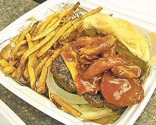 Smokehouse burgers  at Guy's BBQ in Liberty.