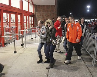 William d Lewis the Vindicator   Shoppers head into Boardman Target store Thursday night for the 9pm opening  .