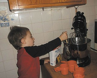 Millie Valentino shared this picture of her greatest joy this year, her great-grandson, Alexander, who is insisting on making his birthday cake. She assures us there's nothing to worry about. The mixer was unplugged.