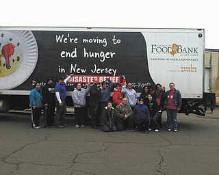 """Rebecca Streb submitted this photo, adding """"One of the best feelings ever was to hear that the Mahoning Valley ranked under the New York Giants! We delivered 18,531 pounds of supplies to the Food Bank in New Jersey. Be thankful for what you have today because in a blink of an eye it could all be gone!"""""""