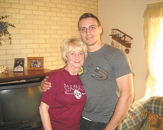 """Peg Sigle of Boardman experienced her greatest joy and surprise in May this year when she opened her door to see her grandson, Marine Cpl. William Jenkins, who was home on leave. She said, """"I know he's 'William' to the USMC, but he'll always be 'Billy' to me!"""" Bill, who is a 2010 graduate of Boardman High School, began calling Peg """"G-Ma"""" years ago and still does."""