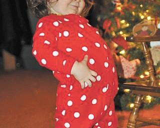 "Dawn Dickey of North Lima says heir granddaughter, Naomi Lane, of Walhonding, Ohio, is their ""Christmas Joy."""