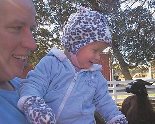 Pap and Brynni get a lot of joy out of the petting zoo.