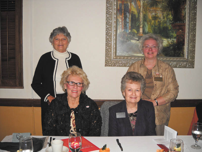 The American Association of University Women Warren Trumbull County Branch hosted Dr. Cynthia Anderson, president of Youngstown State University, as guest speaker for the November meeting. Dr. Anderson spoke about her experiences throughout her career in education. Shown seated from the left are Dr. Anderson and Jean Waris, program chairman. Standing from the left are Katylu Herriman, AAUW vice president, and Laura Boich, AAUW finance officer. For information to attend a meeting or about becoming a member of AAUW call 330-856-2163.