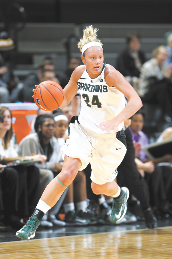 Former Boardman High School basketball standout Courtney Schiffauer is having her best start with the unbeaten Michigan State Spartans since she tore the ACL in her right knee during the 2009-10 season.