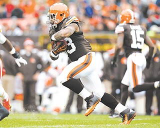 Browns running back Trent Richardson runs the ball against the Kansas City Chiefs during Sunday's
