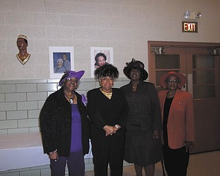 The Youngstown Section of the National Council of Negro Women Inc. met recently for its annual Hats Off to Seniors luncheon at McGuffey Center, 1649 Jacobs Road, Youngstown. A free lunch for seniors 70 and older was provided to the community. Those attending played bingo, and door prizes were awarded. There also was a hat parade; the winner was Mary Adams, second from left. She is shown with Joy Perry, left, and Pat McKinney and Pauline Mitchell. Mary McLeod Bethune founded the NCNW in 1935. The organization seeks to improve the quality of life for women and their communities with a major focus on literacy. President of the Youngstown section is Yvonne Wilson. For information visit www.ncnw.org.