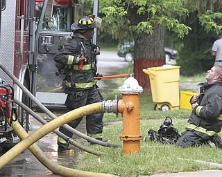 William D Lewis the vindicator  Firefighters on scene of arson fire on almira Thursday morning.