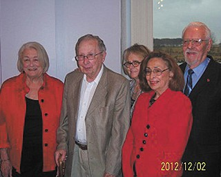 Mended Hearts, an organization that provides support for cardiac patients and their families, recently conducted an installation ceremony at Avion on the Water. From left are Dolores Iannucci, vice president; Erwin Schwartz, visiting chairman; Trudy Serrino, secretary; N. Lee Meadows, president; and Donald Feindt, treasurer.