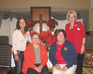 Boardman-Poland Junior Women's League will host a new membership open house with a ladies social at 6 p.m. Monday at Glenellen, 9661 Market St., Boardman. This has been a tradition in Mahoning County since 1979. New officers for 2013 are, from left, Sperry Rongone, president of Boardman-Poland Junior Women's League; Corky Nosek, GFWC Ohio state president; Linda Crish, GFWC Ohio director of junior clubs; and Yvonne Ford, GFWC Ohio assistant director of junior clubs. The club promotes friendship and volunteering to benefit worthwhile causes. Those interested in joining or learning about the organization may call Ford 330-718-2013 or 330-755-6828.