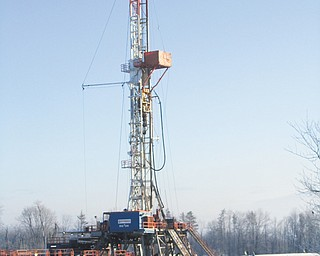Halcon Resources is beginning its work to drill Trumbull County's first horizontal gas well on this property in Burghill.