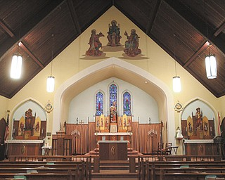 The sanctuary of Our Lady of Hungary Church in Youngstown, which closed in February 2012, exemplifies Carpathian iconography and symbols of the Transylvania region. Many church members used their skills to build and furnish the church, which dates to 1929.