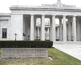 The National McKinley Birthplace Memorial on North Main Street in downtown Niles was completed in 1917 at a