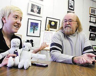 Jeff Vargo and his 16-year-old daughter, Gabrielle, are both artists who have won numerous awards at local and regional art shows, often competing in the same event. Photo by: William D. Lewis | The Vindicator