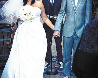 Here are Kristin Bernat and John Andrews, all smiles on their wedding day Oct. 6, 2012, in Columbus. Photo sent in by Kathy Bernat.