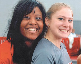 Lana VanAuker of Canfield sent in this photo of Leanna Hartsough and coach Katrina Brumfield after a Youngstown State University track Horizon League event.