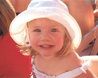 This is 2 1/2-year-old Natalie Elizabeth Mihalik, daughter of of Mark and Kellie Mihalik of Yucca Valley, Calif. The picture was taken at a baseball game between the Indians and the Angels, says Grandma Hilda Mihalik of Canfield, who submitted the photo.