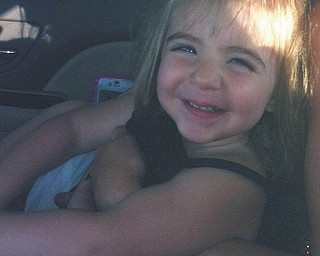 This picture of Sophia Testa of Boardman was taken with her mom's cell phone.