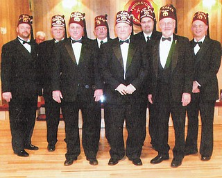 SPECIAL TO THE VINDICATOR Youngstown Shrine Club installed 2013 officers at the December meeting. Officers are, Robert Riozon, left, director; Hugh Davenport, 2012 president; Jim Rach, first vice president; William Early, director; Tom Allsopp, 2013 president; Louis Garland, director; Jim Hazlett, second vice president; and Howard Meritt Jr., treasurer. Other officers for 2013 not present are Phil Welce, protocol; Steve Withers, installing officer; and Willard Hughes, secretary.