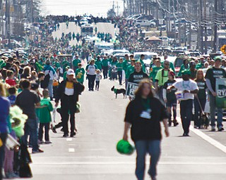 Sunday's springlike weather drew thousands to the 35th annual Mahoning Valley St. Patrick's Day Parade along Market Street in Boardman. Joyce Kale-Pesta, parade committee president, said Sunday's event was the largest to date.