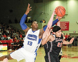 Youngstown Christian's Tymere Dubose (13) and the rest of the Eagles will meet Hannibal River in tonight's Division IV regional semifinal at the Canton Fieldhouse.