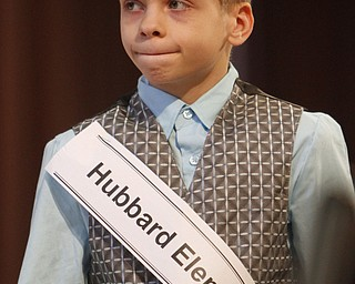 ROBERT  K.  YOSAY  | THE VINDICATOR --..FACES --   Chris Daniels 4th Grader Hubbare Elementary..The 80th  Youngstown Vindicator Spelling Bee was held at Kilcawley Center on YSU Campus  Saturday morning with  60 competitors from area schools.. ..(AP Photo/The Vindicator, Robert K. Yosay)