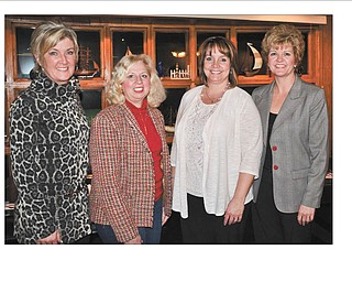 SPECIAL TO THE VINDICATOR Columbiana Area Business and Professional Women recently inducted two new members. Shown are, Lori Everly, left, membership chairwoman; new members Barb Weikart-Kuder and Laura Good; and Jenny Pike, club president. Good is director of human resources for Chestnut Land Co., and Weikart-Kuder operates the KOA Campgrounds in the Lisbon/Salem area with her husband. CABPW's mission is to achieve equity for women in the workplace through advocacy, education and information. If interested in becoming a member or for information contact Everly at leverly1101@aol.com.