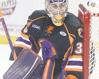 With 28 wins this season, Youngstown Phantoms goaltender Sean Romeo has tied last year's netminder Matt O'Connor.
