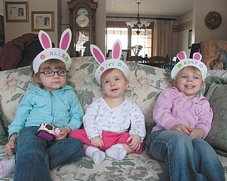 Grandpa Ron Garchar of Austintown sent in this photo from Easter 2008 of the Garchar granddaughters: Halle Schuler, Ivy Garchar and Rory Schuler.