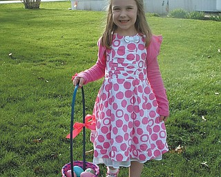 Veronica Cionni, who was 5 on Easter 2010, is from Poland. The photo was submitted by her mom, Krissie Cionni.