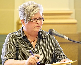 Brenda Williams, Youngstown's former chief building official, complained to the city's Civil Service Commission on Wednesday that city leaders made her job stressful.